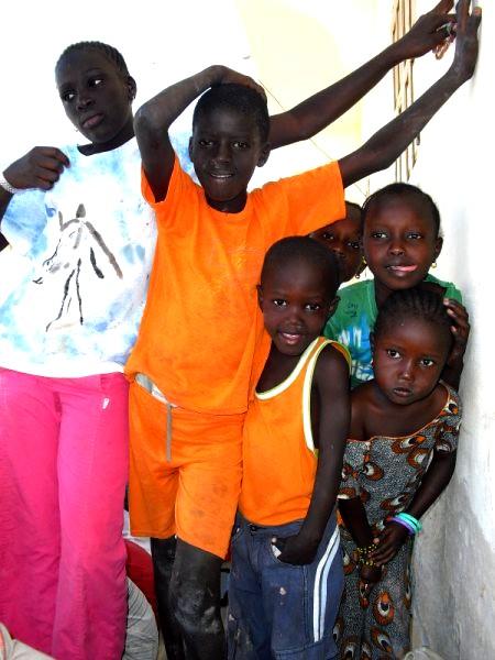 enfants de Saint Louis du Sénégal
