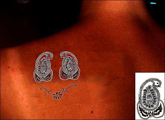 tatouage motif dos