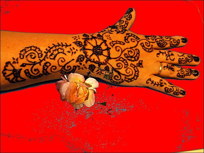 tatouage au henn motif pour les mains 30 08 2010 ma tante z lie le blog du nord de la. Black Bedroom Furniture Sets. Home Design Ideas