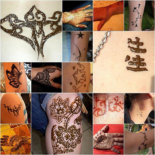 tatouages au henné