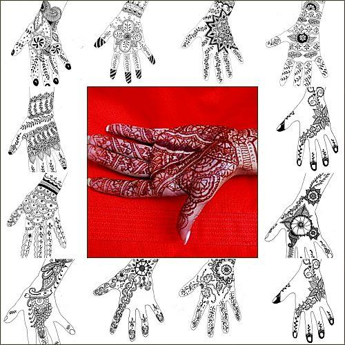 2012 12 08 tatouage au henn motifs pour les mains ma tante z lie le blog du nord de la. Black Bedroom Furniture Sets. Home Design Ideas