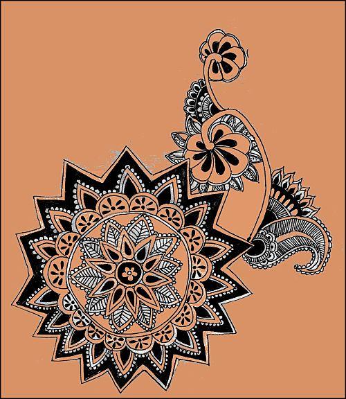 tatouage au henné d'inspiration indienne